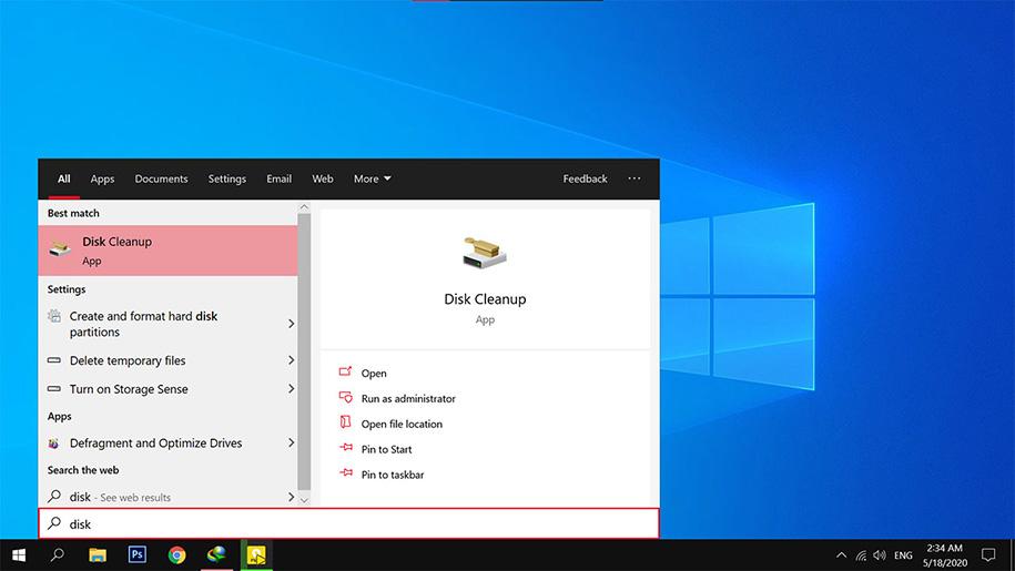 آموزش تصویری ابزار کاربردی دیسک کلین آپ در ویندوز 10