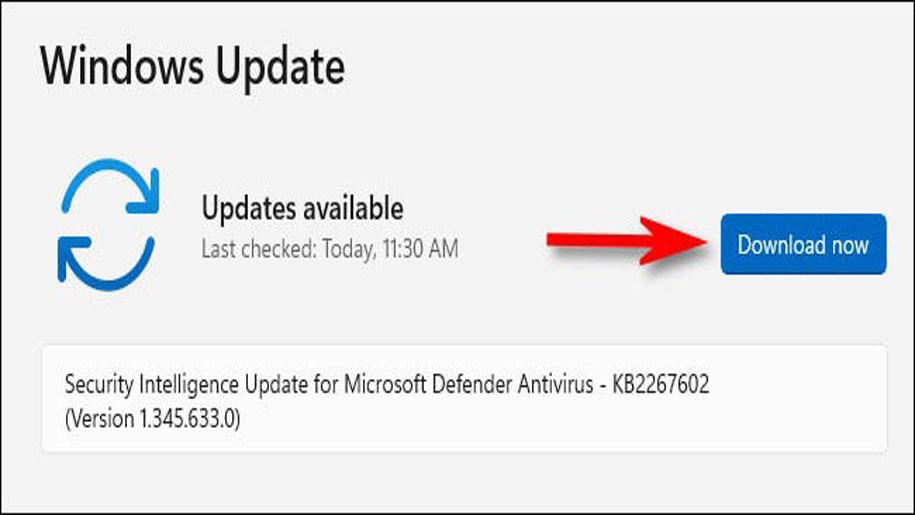 آموزش آپدیت ویندوز 11 در محیط سیستم عامل